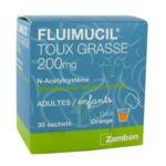 FLUIMUCIL EXPECTORANT ACETYLCYSTEINE 200 mg SANS SUCRE, granulés pour solution buvable en sachet édulcorés à l'aspartam et au sorbitol à Le Taillan-Médoc